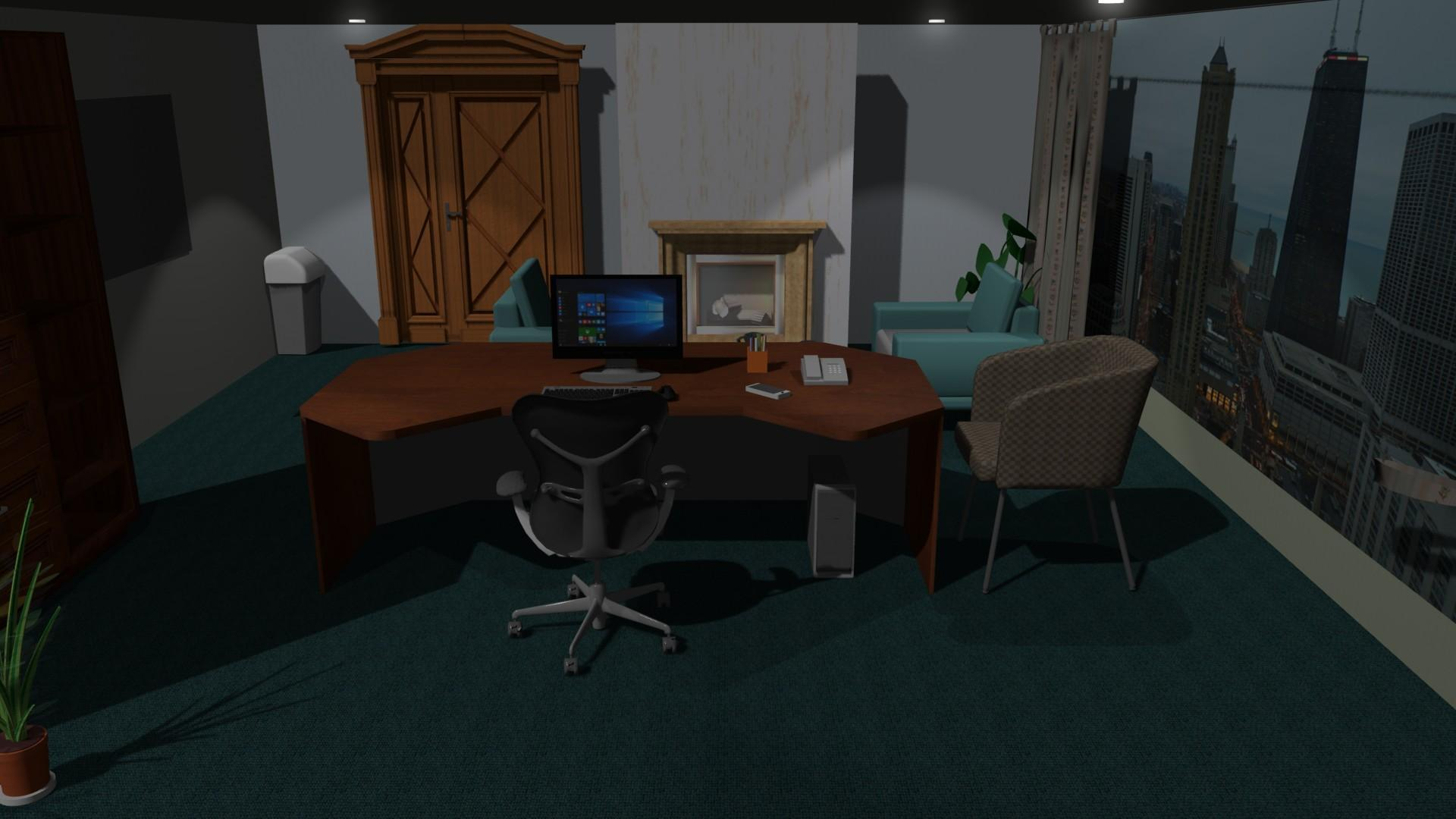 personal office design. Create Office Design With Pro100 Software Personal